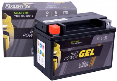 gel motorradbatterie intact 50812 gel12 9 bs 12v 8ah. Black Bedroom Furniture Sets. Home Design Ideas
