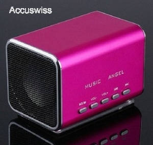 mini lautsprecher mp3 fm micro sd musikbox pink akku. Black Bedroom Furniture Sets. Home Design Ideas