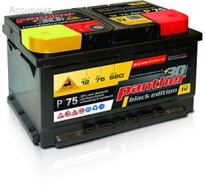 Autobatterie Panther P 75 570 01 57220 57412 B13 75ah Akku Und