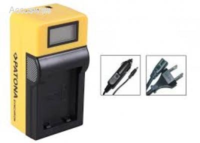 PATONA LCD USB Ladegerät für Akku Canon ZR10 ZR20 ZR25MC ZR30MC ZR50MC ZR60
