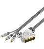 Home Theater, Scart auf Cinch Kabel 1,5m