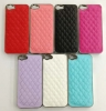 Backcover Chrom / Leder Pink für Apple iPhone 5
