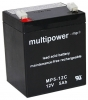 Multipower MP5-12C Bleiakku Zyklenfest, 12V 5Ah Faston 6,3mm