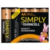Duracell MN1500 Simply AA, LR6 10er Packung